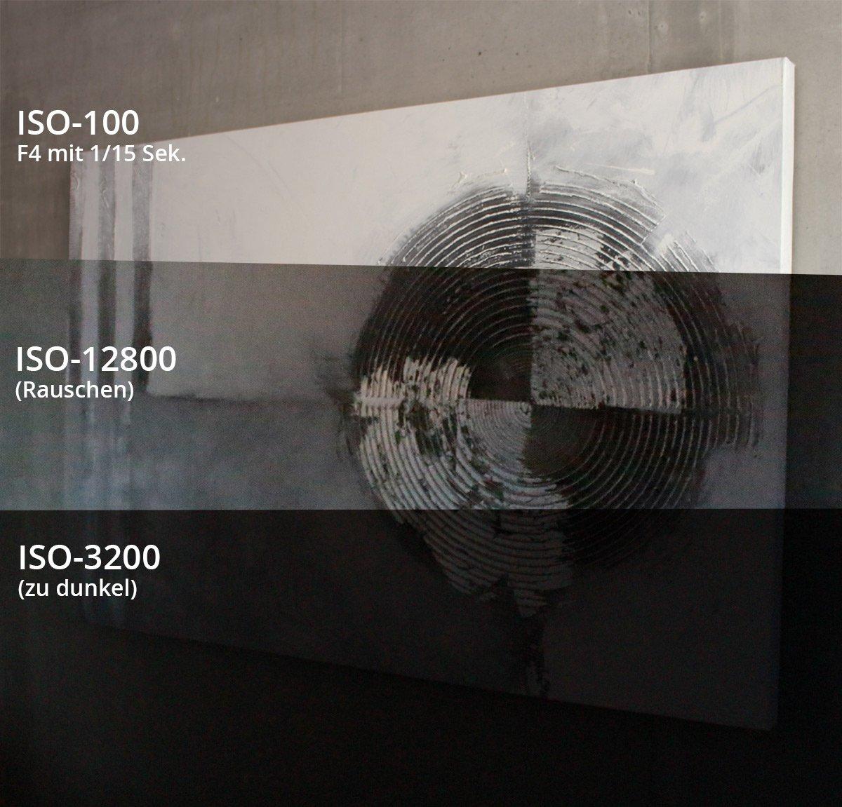 ISO Rauschen Vergleich
