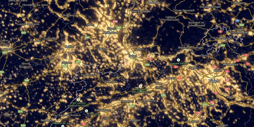 Milchstrasse fotografieren dunkle ort map