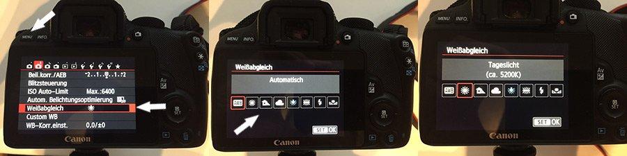 weissabgleich kamera einstellen canon