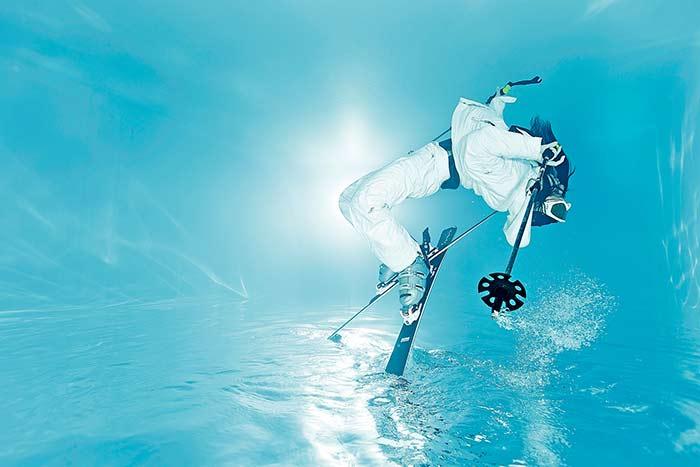 Unterwasser Sport Fotoshooting