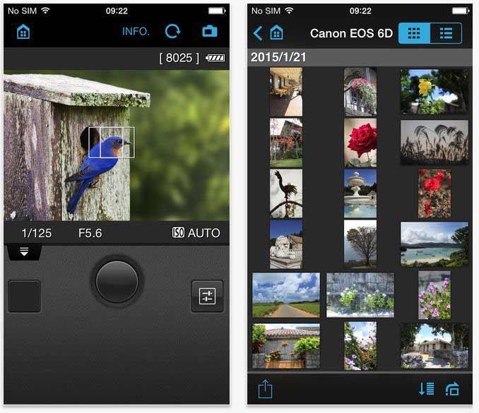 fotografie app canon remote