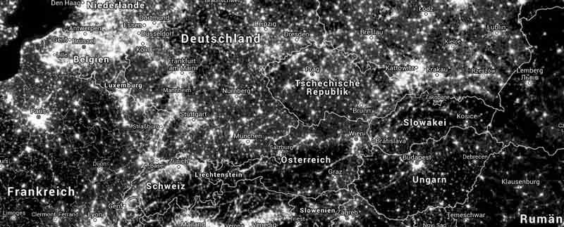 karte lichtverschmutzung deutschland