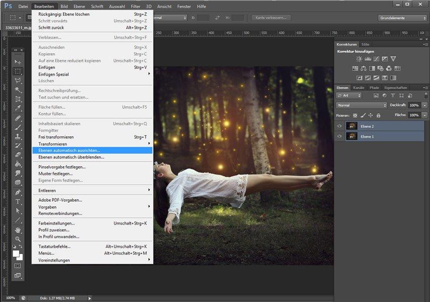 levitation bildbearbeitung photoshop
