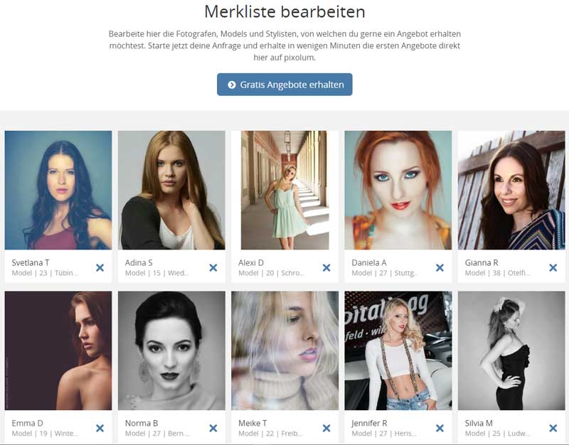 model gesucht fotomodel auswahl