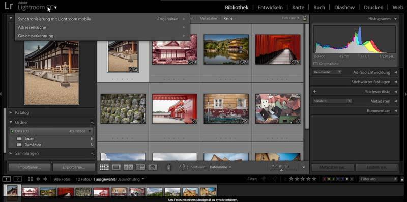 bilder verwalten software fotomanager adobe lightroom