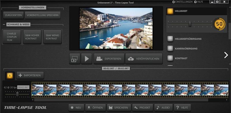 timelapse erstellen software tools