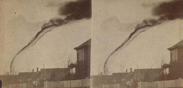 erste fotografie tornado