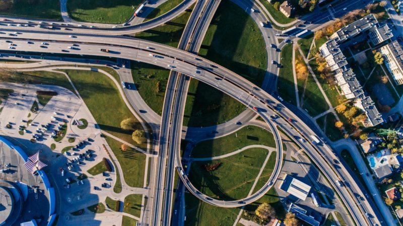 Drohnenfotografie Autobahn