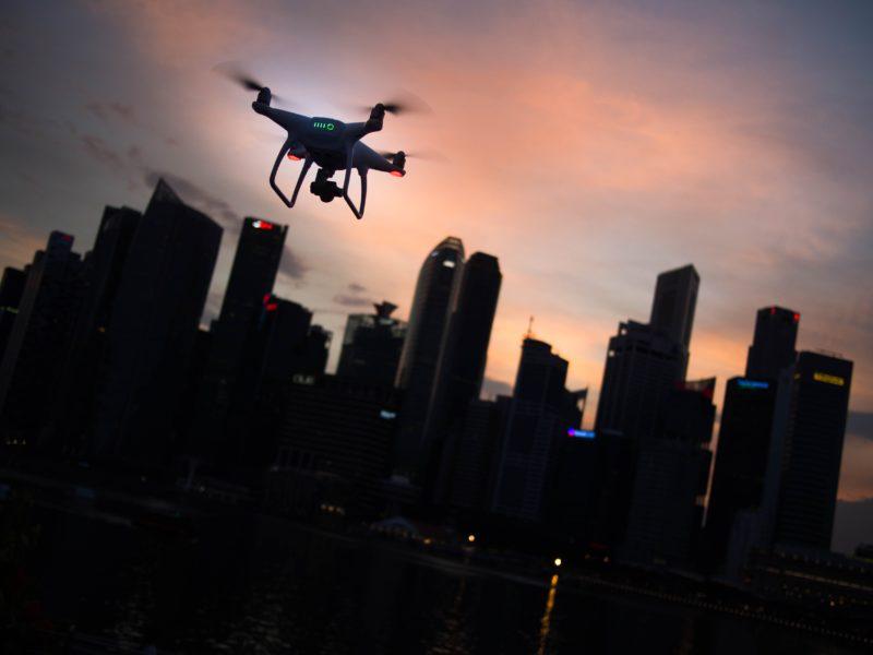 Drohnenfotografie bei Nacht