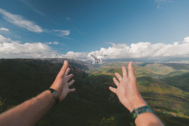 Drohnenfotografie Rückkehr