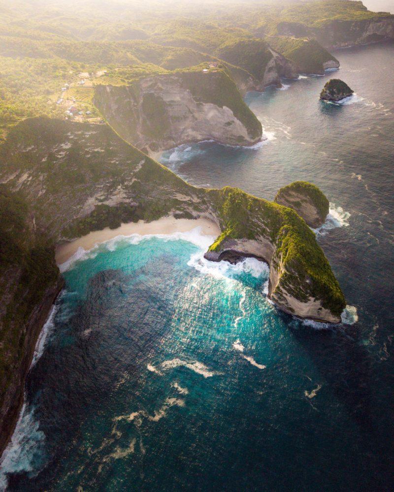 Drohnenfotografie einsame Bucht