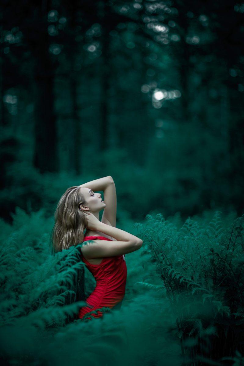 Mode-Shooting im Wald