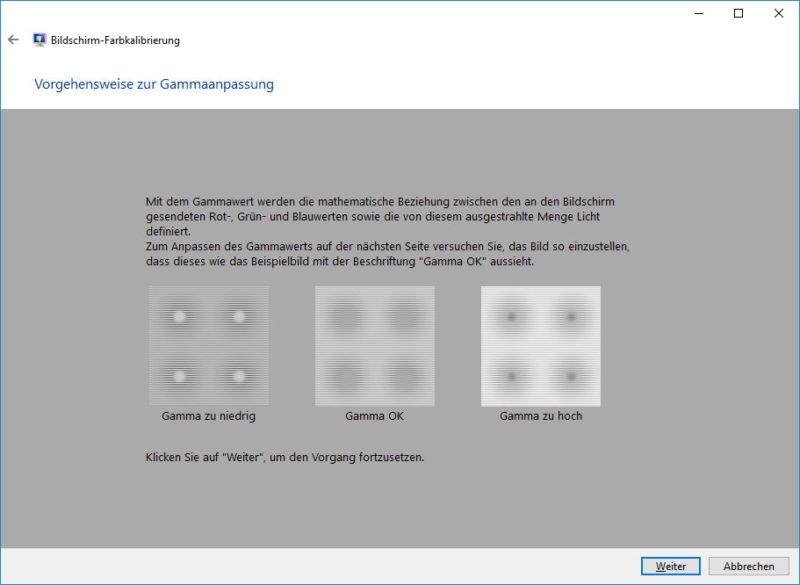 Monitor Gamma Wert Windows 10