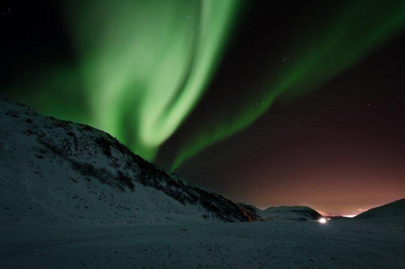 Polarlichter mit Stativ fotografieren