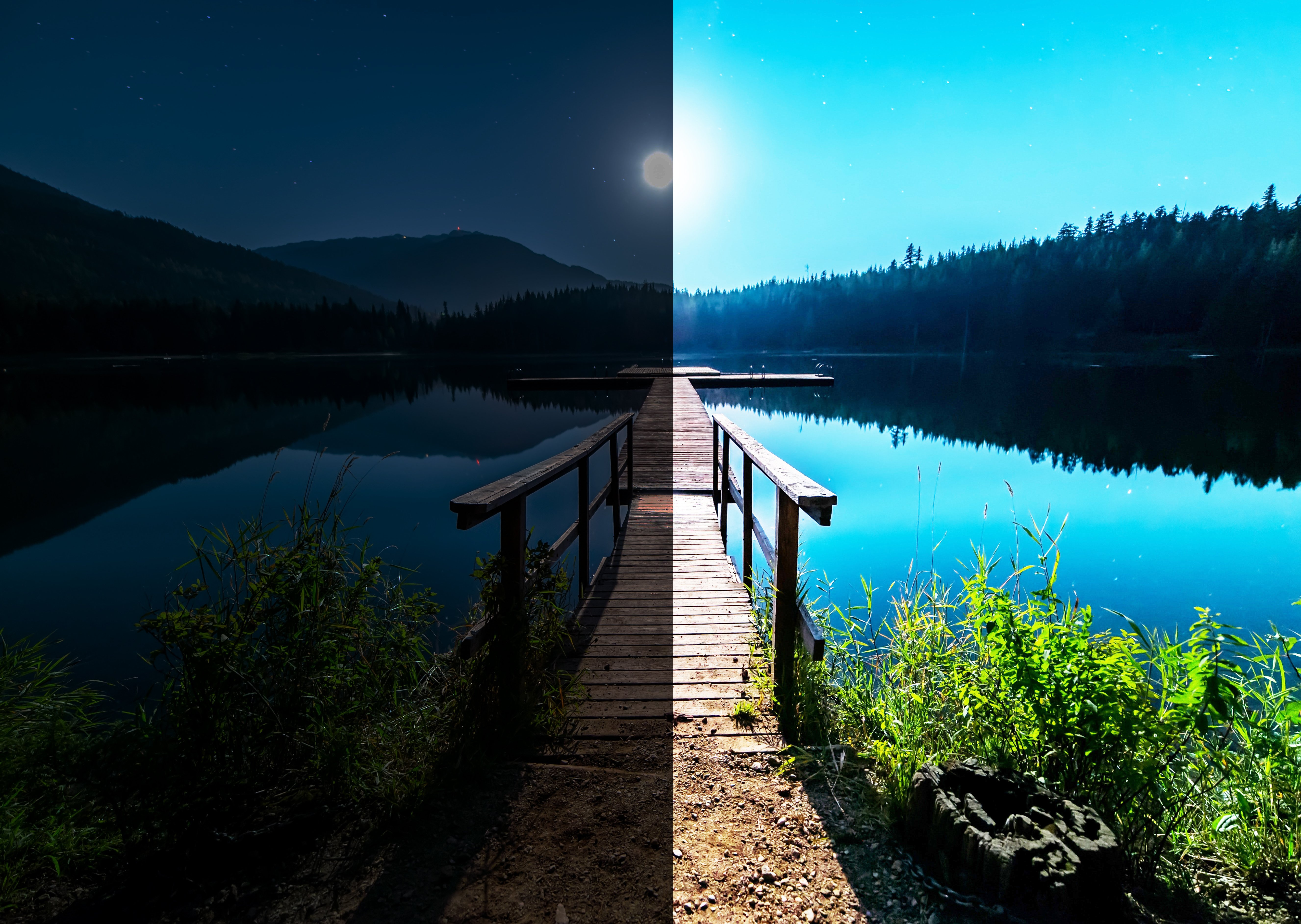Belichtungsmessung zu hell und zu dunkel