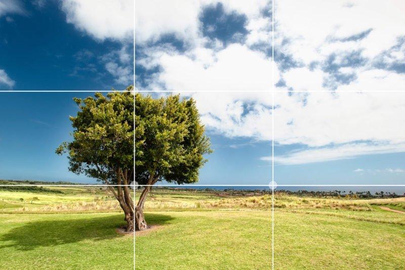 Ankerpunkte setzen mit der Drittelregel in der Fotografie