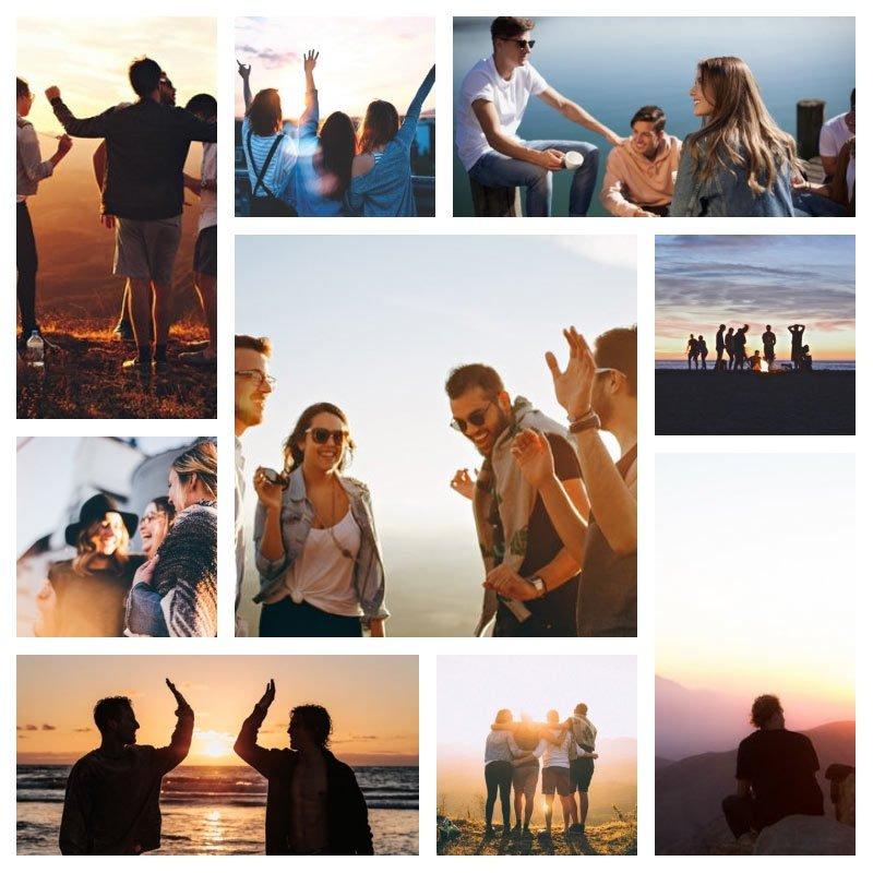 Foto Collage Apps für iOS und Andoid Freunde