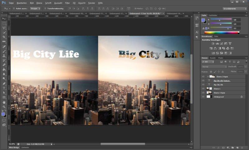 Photoshop Schrift Textur Hintergrundbild