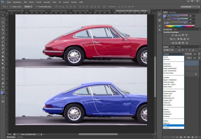 Photoshop Tipp Glanz einfärben