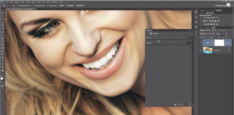 Mit Photoshop Zähne aufhellen und bleichen