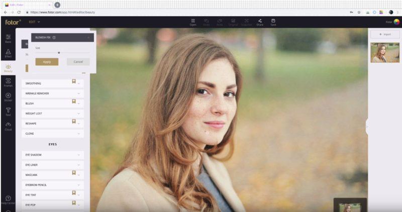 Bildbearbeitungssoftware kostenlos Fotor