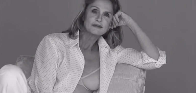 Best Ager Model für Unterwäsche Label Lauren Hutton
