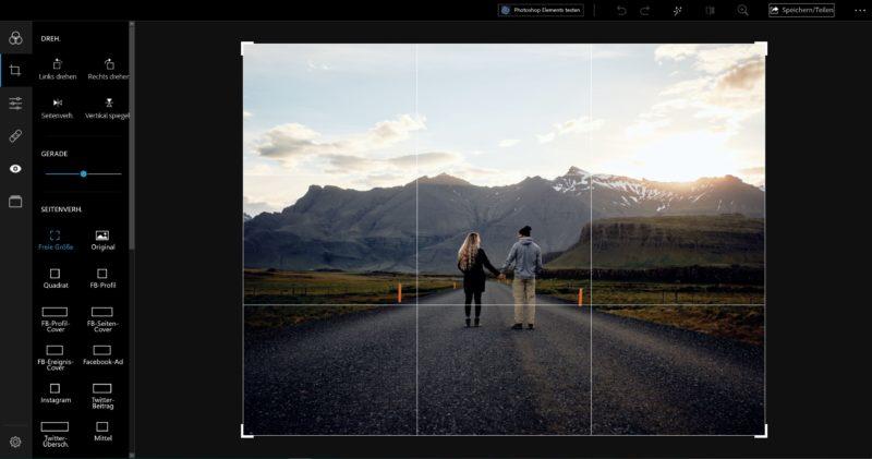 Bildbearbeitungsprogramm gratis Photoshop Express