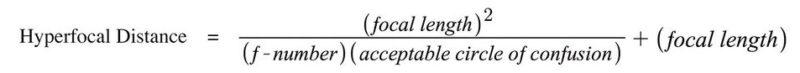 Formel Berechnung Hyperfokale Distanz