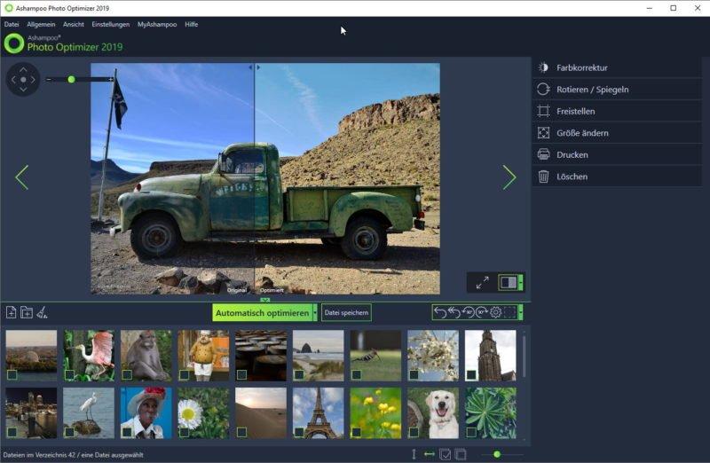 Fotosoftware gratis Ashampoo
