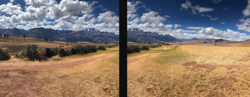 Panorama Querformat Bilder Stitching