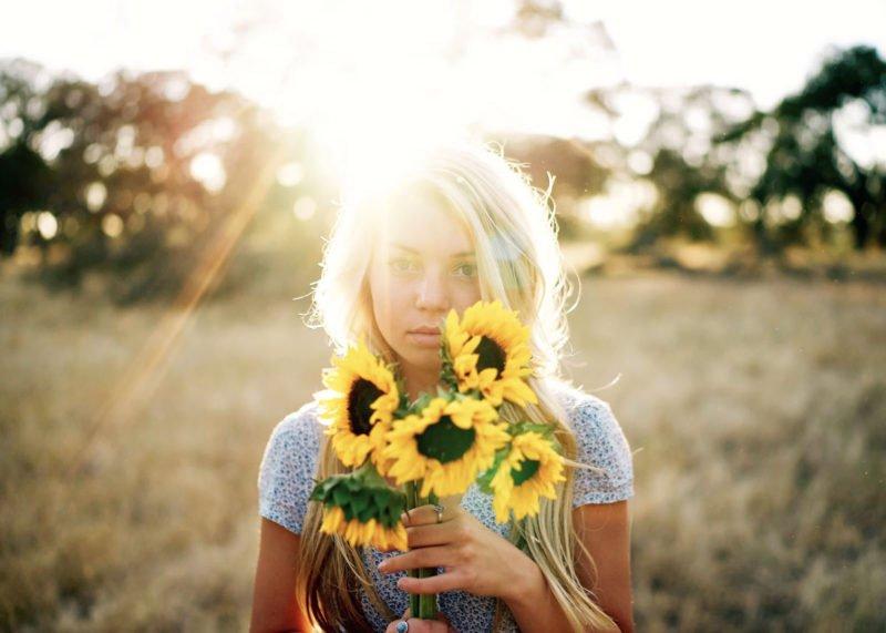 Portraitfoto Sonne im Rücken Lensflares