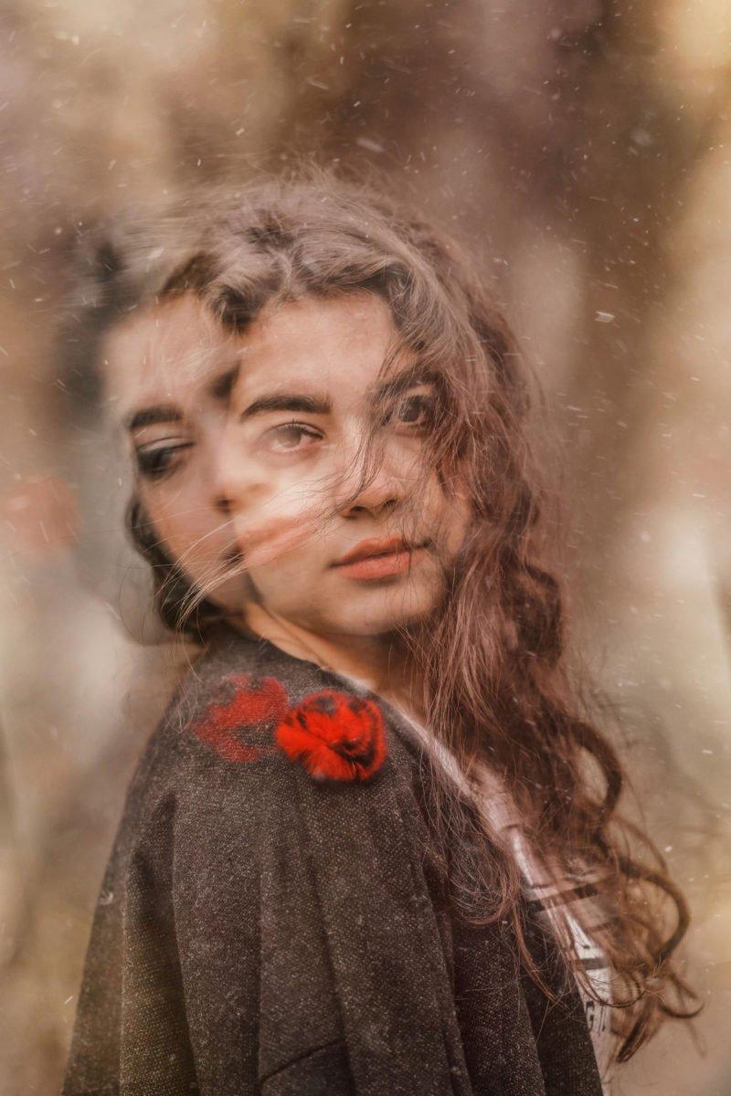 Portraitfoto lange Belichtung Bewegung