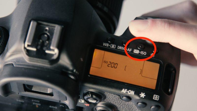 ISO Kamera Knopf Canon