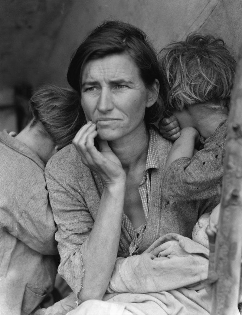Flüchtlingsmutter von Dorothea Lange