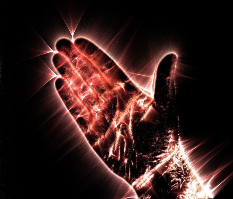 Kirlian-Effekt Hand
