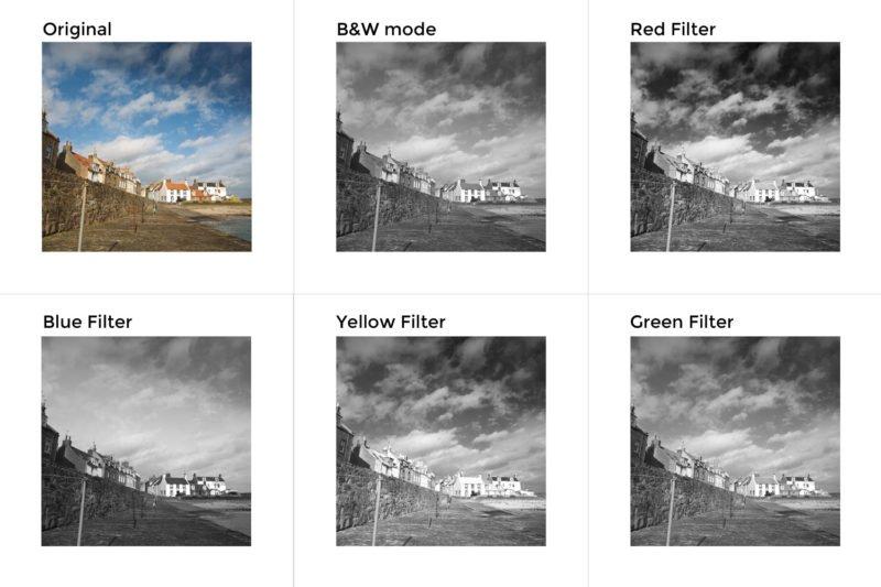 Schwarz-Weiss-Fotografie Filter