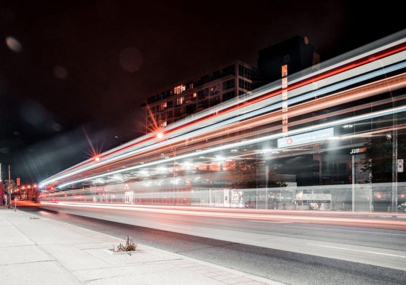 Lichtspur Motion Blur