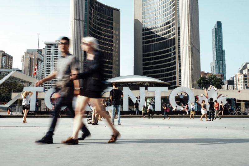 Street Fotografie Toronto Skyline