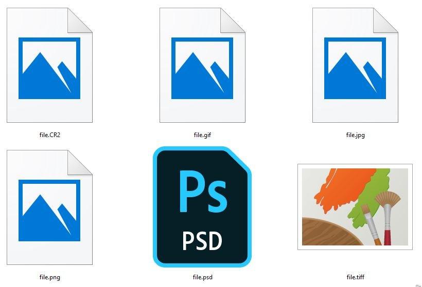 Bildformate JPEG TIFF GIF SVG