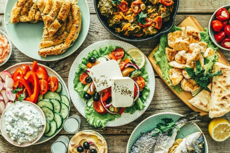 Fotomotiv Food Teller mit Leckereien