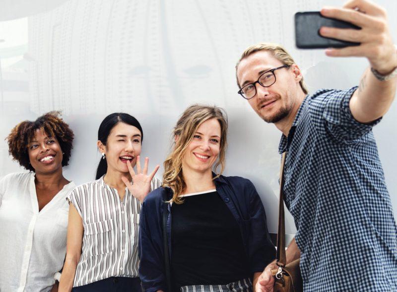 Gruppenfoto Selfie