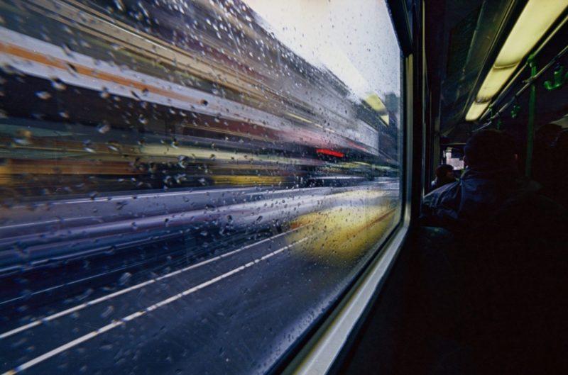 Bewegungsunschärfe Verschwommener Verkehr