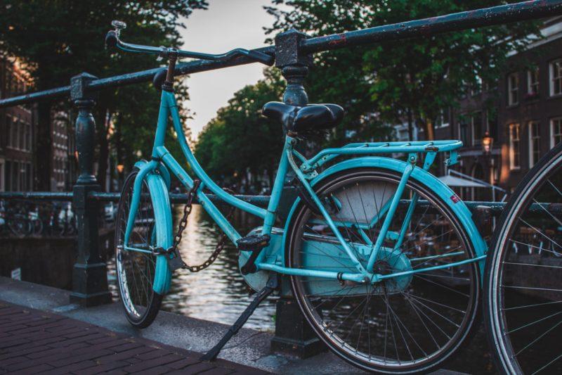 Foto Ideen blaues Fahrrad