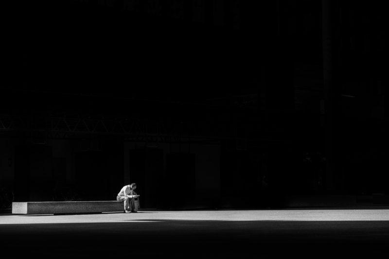 Schwarz-Weiss-Fotografie Emotion