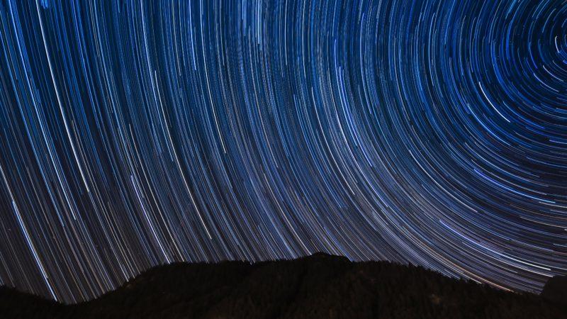 Sternenhimmel mit langer Belichtungszeit