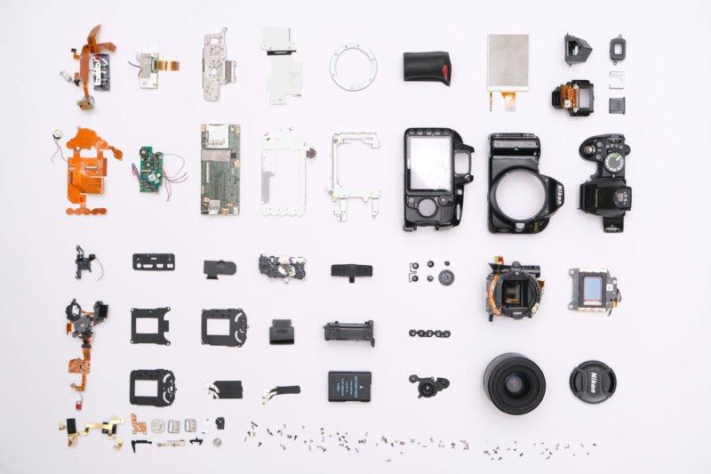 Bestandteile einer Digitalkamera