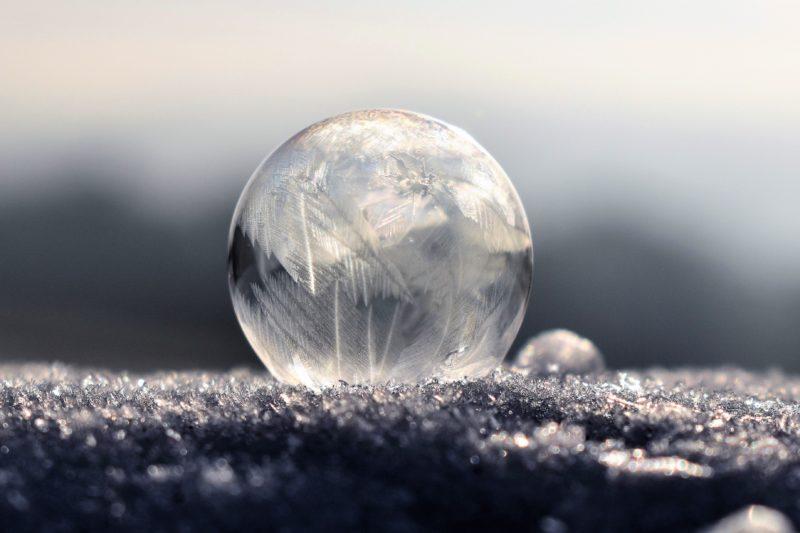 kreative fotoideen gefrorene seifenblase