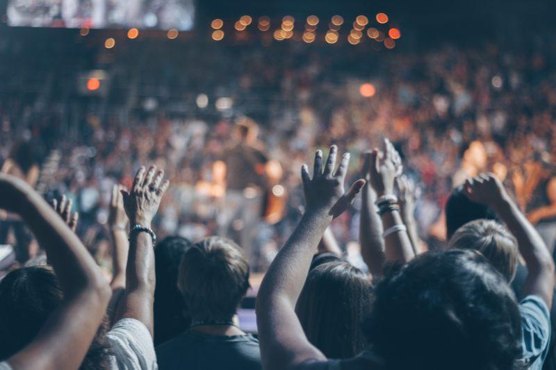 Beispielbild für Personenmenge an einem Konzert