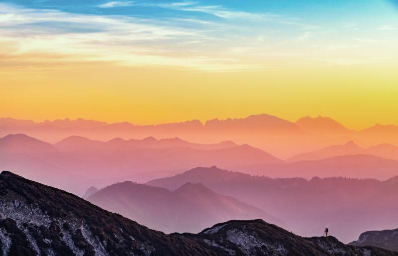 sonnenaufgang fotografieren bergsilhouette
