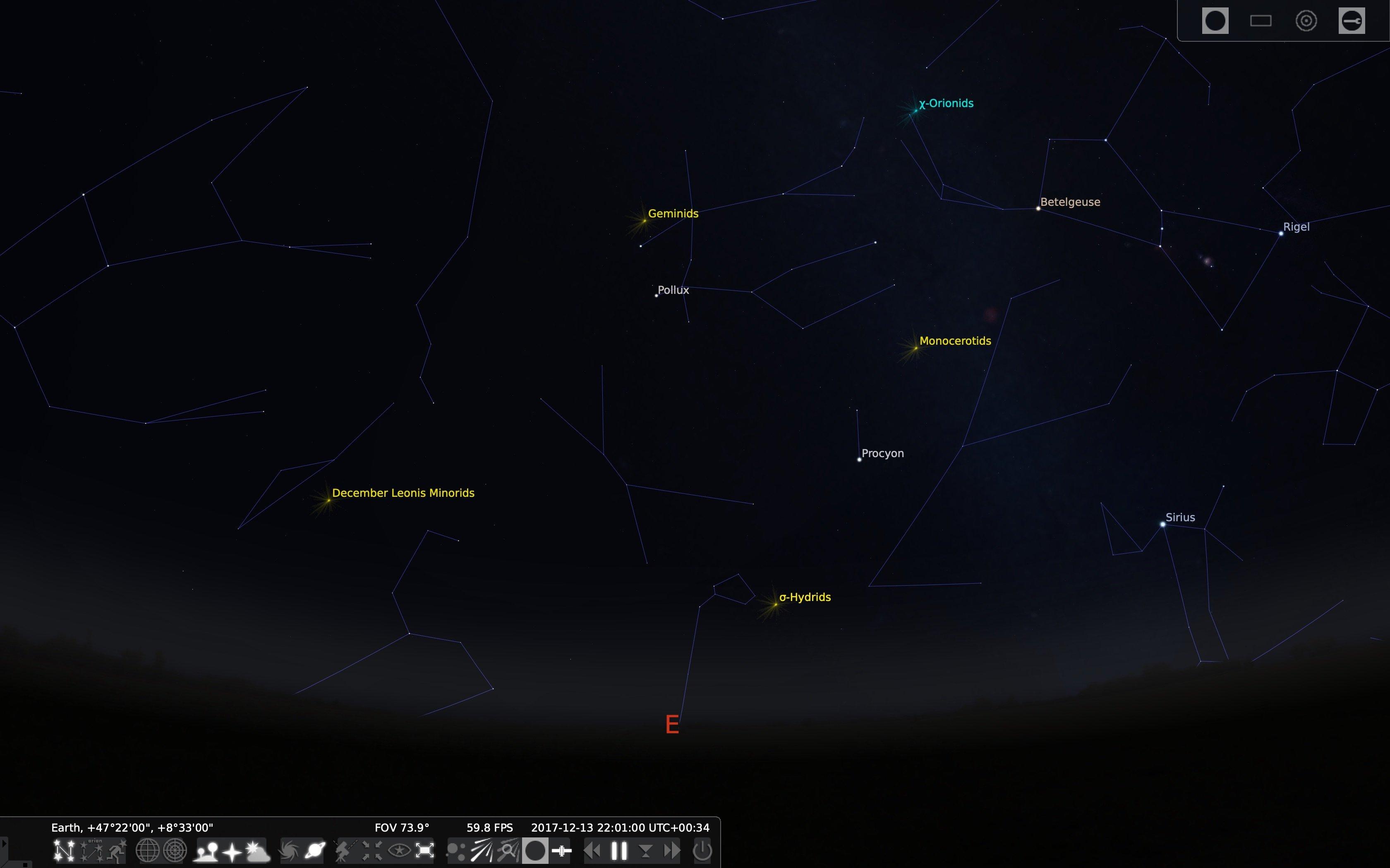 Sternschnuppen Meteoritenschauer